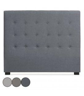 Tête de lit 140cm en tissu grise taupe ou beige Luxy