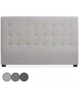 Tête de lit 180cm en tissu taupe grise ou beige Luxy -