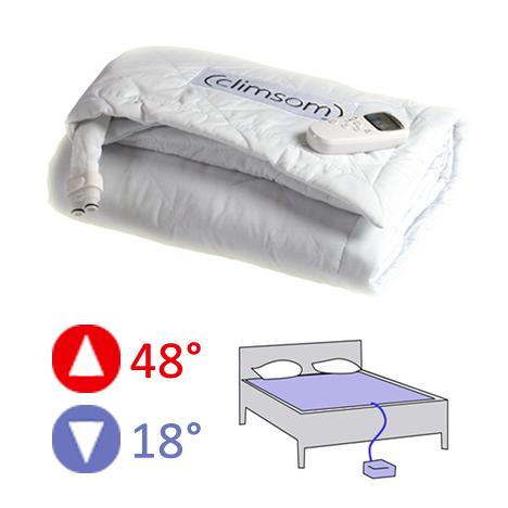 Matelas climatisé rafraichissant ou chauffant 2 places CLIMSOM -