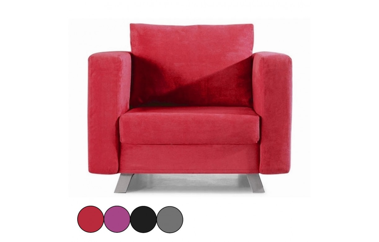 fauteuil convertible 1 place en tissu soly 4 coloris decome store. Black Bedroom Furniture Sets. Home Design Ideas