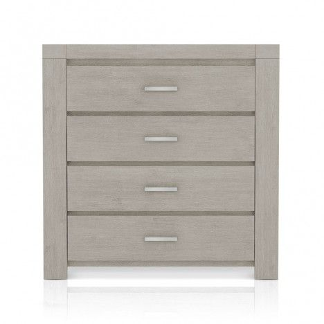 Commode 4 tiroirs en bois taupe Acacy -