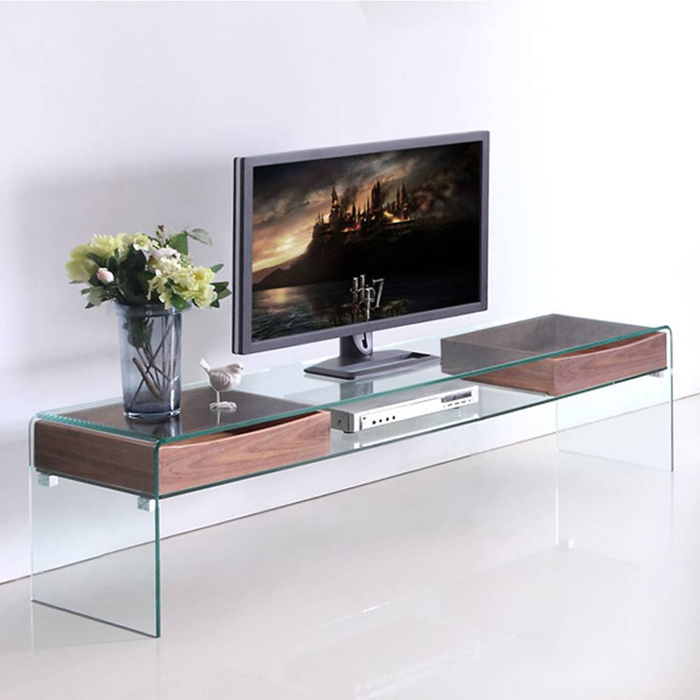 Meubles Tv Decome Store # Table Basse En Verre Tele