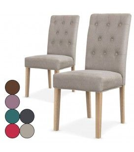 Lot de 2 chaises en tissu Costy - 6 coloris