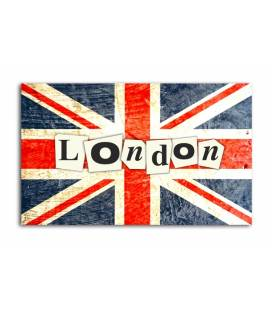 Tableau British London Enigme 55x80 cm FLAG