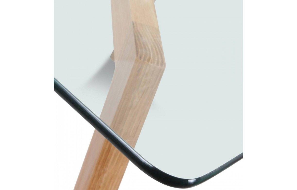 table en verre trempé design