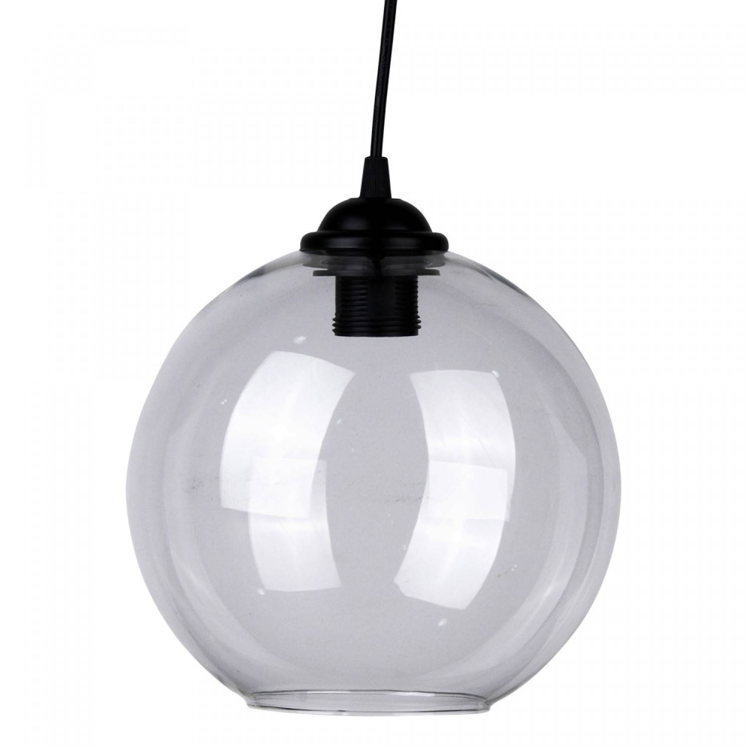 Suspension boule noire fashion designs for Suspension boule verre