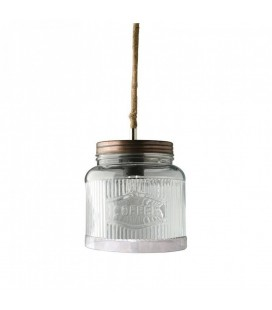 Suspension design pot en verre Coffee