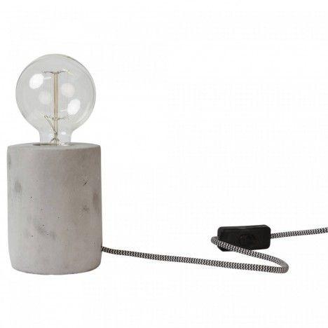 Lampe d'appoint en pierre ciment -