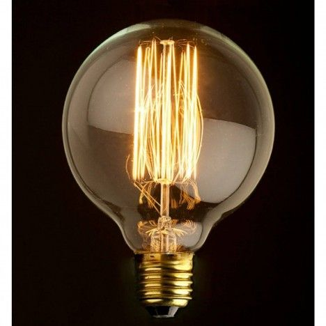 Ampoule décorative globe 8cm design style Edison 60W -