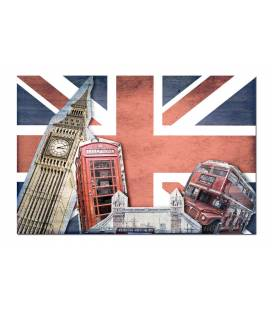 Tableau British London Dynamique 80x55 cm LONDY