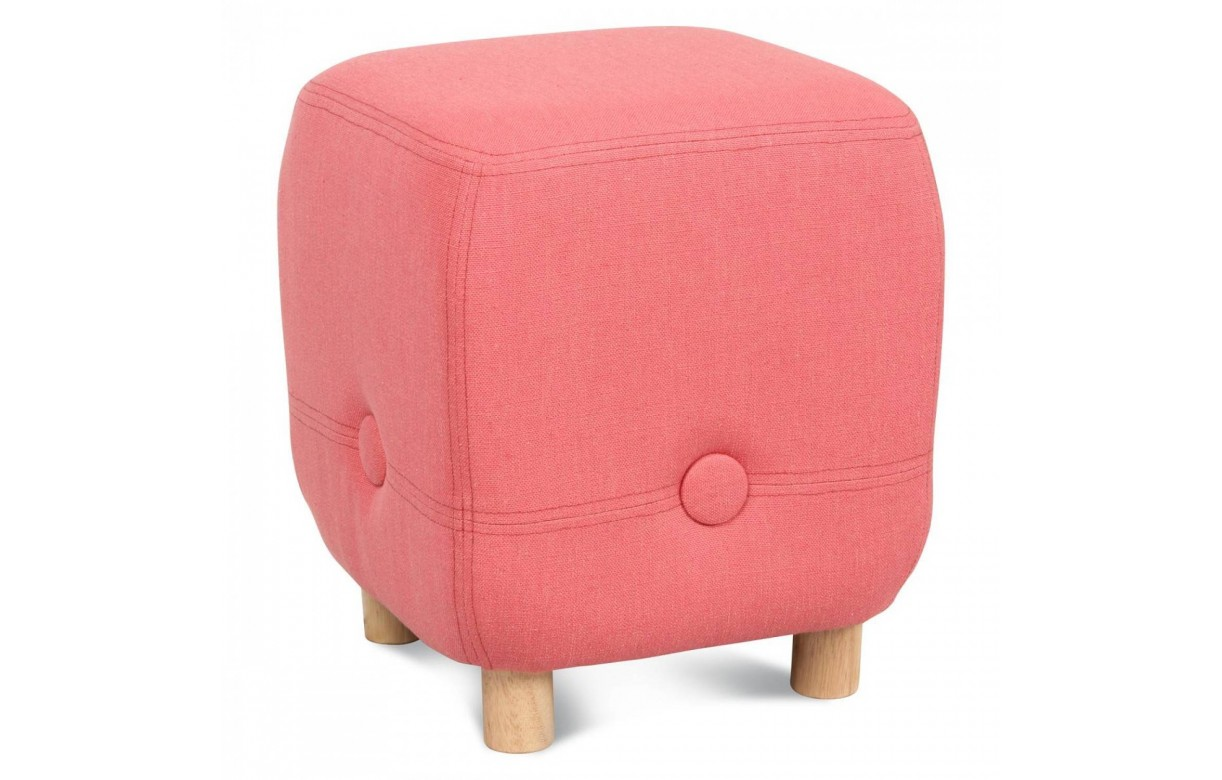 pouf corail gris ou bleu design avec pieds en bois swiny decome store. Black Bedroom Furniture Sets. Home Design Ideas