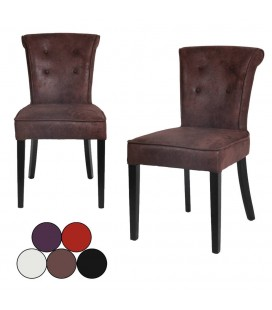 Lot de 2 chaises en velours design Toky - 5 coloris