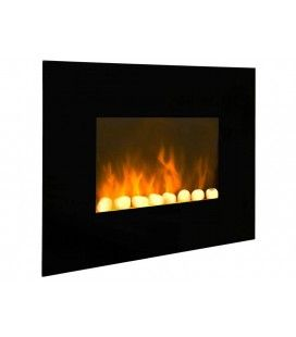 Radiateur électrique imitation feu cheminée Black Fire -