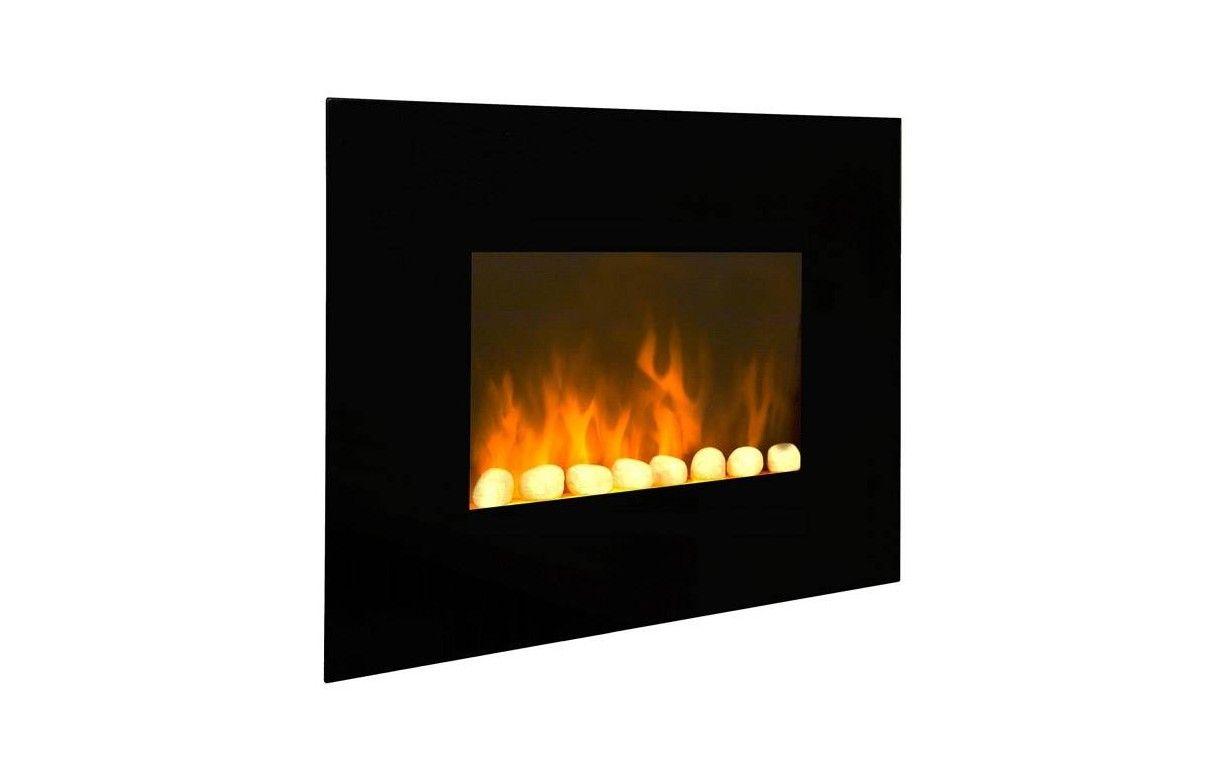 Radiateur lectrique imitation feu chemin e black fire - Chauffage electrique imitation cheminee ...