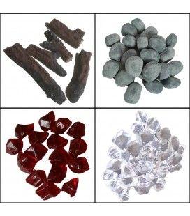 Buches galets ou cristaux de cheminées électrique déco - Chemin'arte