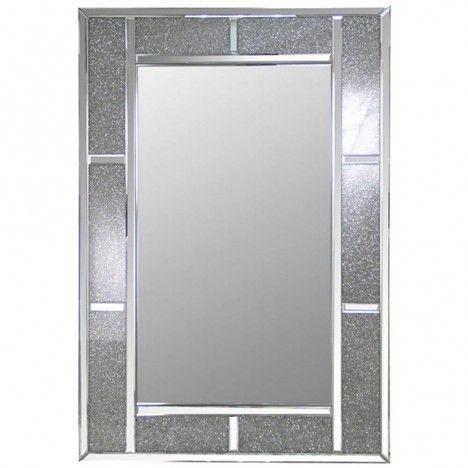 Miroir design à cadre large brillant Stella -