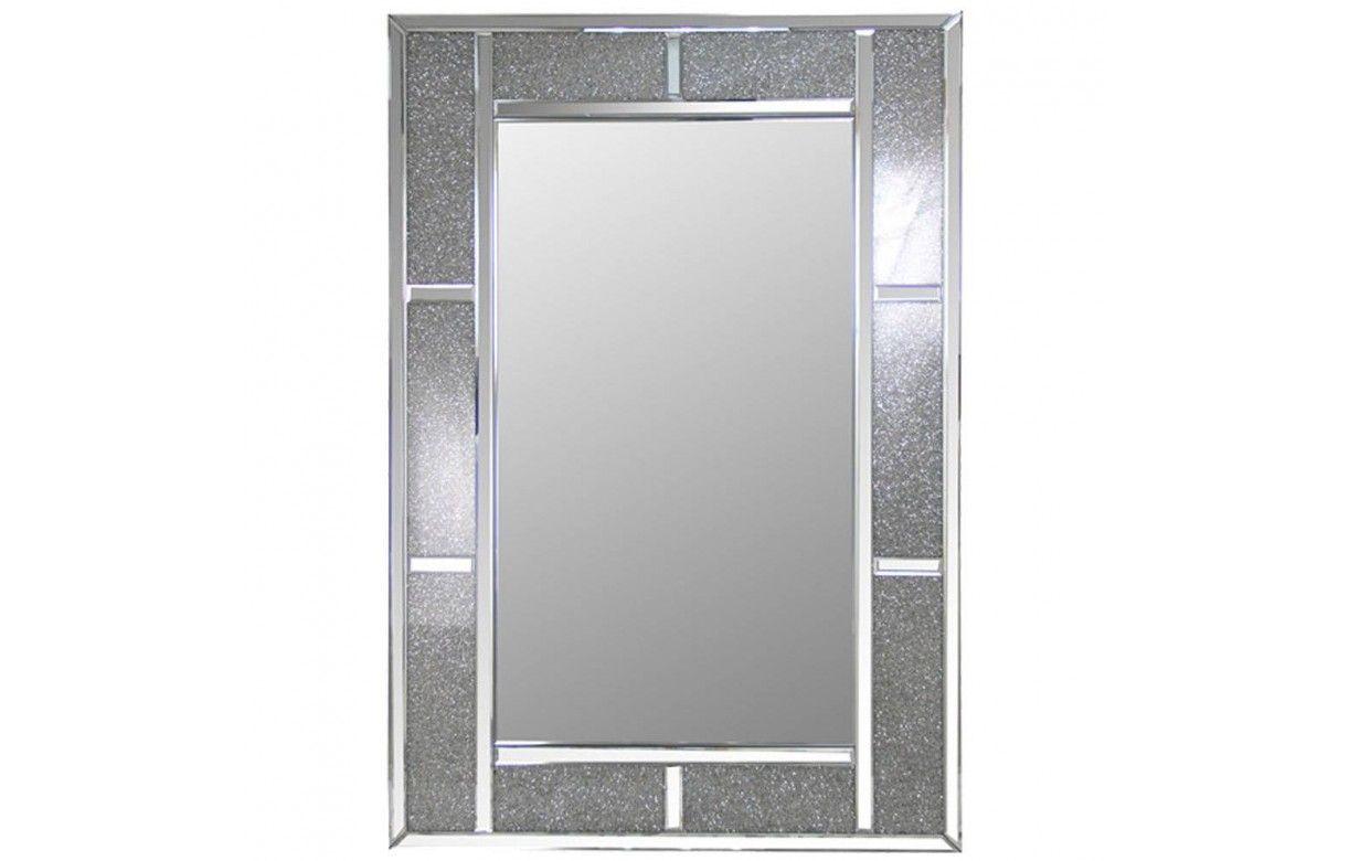 Miroir design cadre large brillant for Miroir cadre
