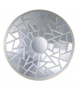 Miroir décoratif rond à facettes Olympa -