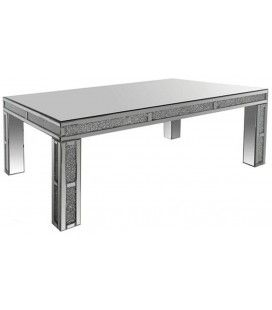 Grande table basse design avec plateau en verre Stella