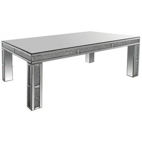 Grande table basse design avec plateau en verre Stella -