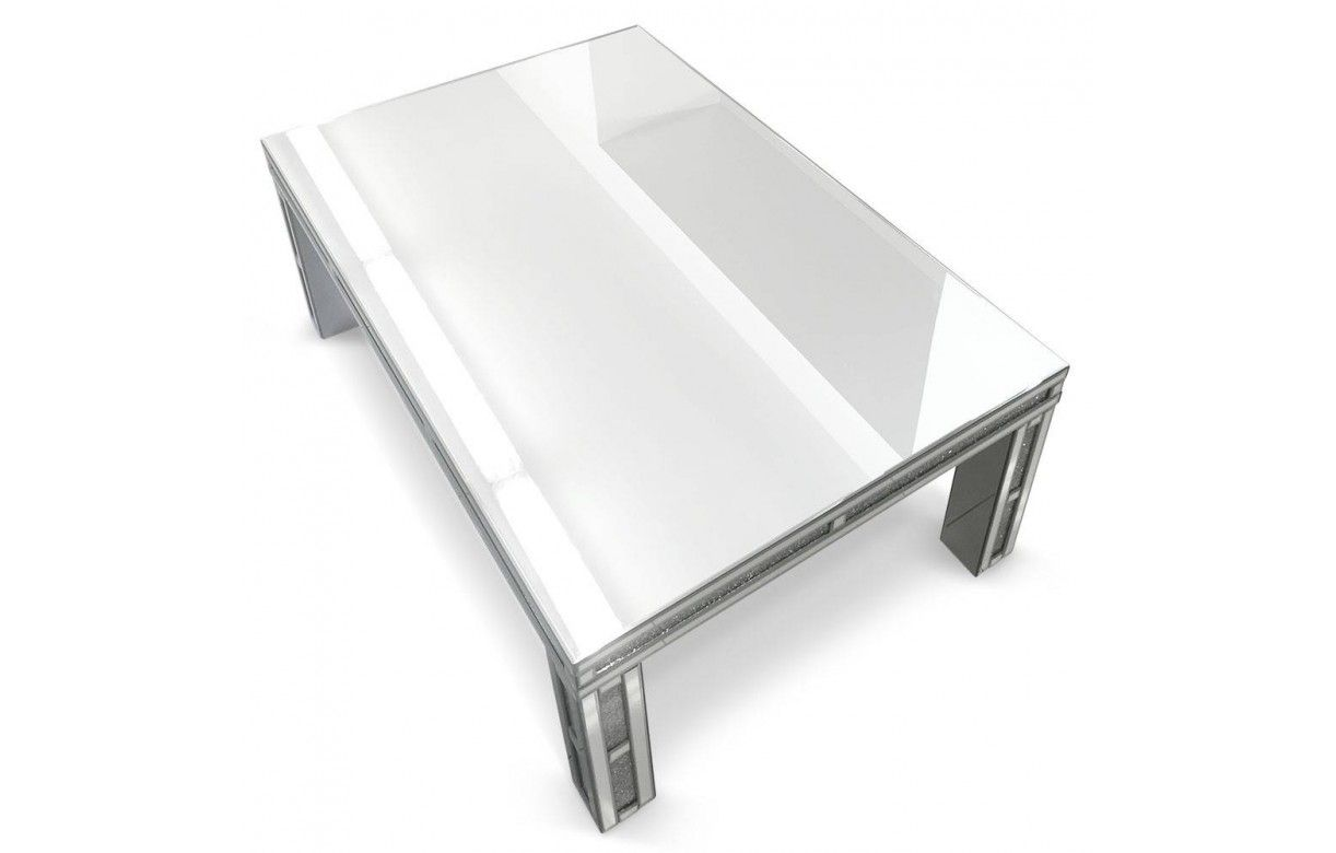 Grande table basse design avec plateau en verre - Table basse verre design ...