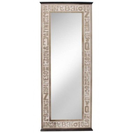 Miroir design en bois patin for Miroir bois design
