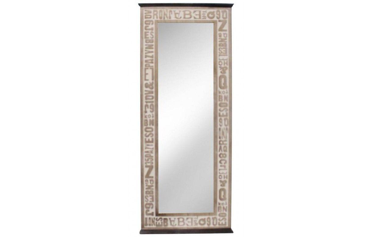 Miroir design en bois patin for Miroir industrie
