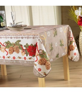 Nappe de Noel anti-tache rectangle 150x240 cm