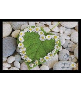 Tapis d'entrée antidérapant 40 x 60 cm Love Nature Galet