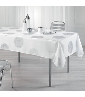 Nappe anti-tache Rectangle 150 x 240 cm Platine Blanc