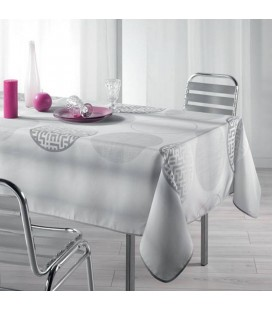 Nappe anti-tache Rectangle 150 x 240 cm Kosmo Gris