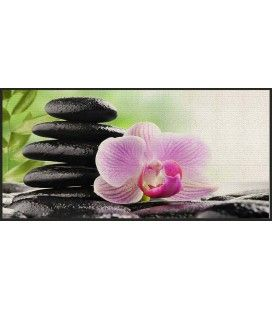 Tapis Zen antidérapant 57 x 115 cm Serenity Lotus