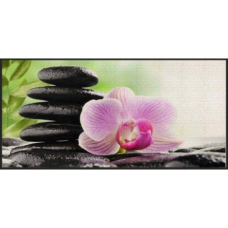 Tapis Zen antidérapant 57 x 115 cm Serenity Lotus -