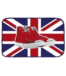 Tapis deco London 45x75 cm velours shoes drapeau