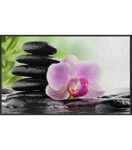 Tapis Zen antidérapant 50 x 80 cm Serenity Lotus