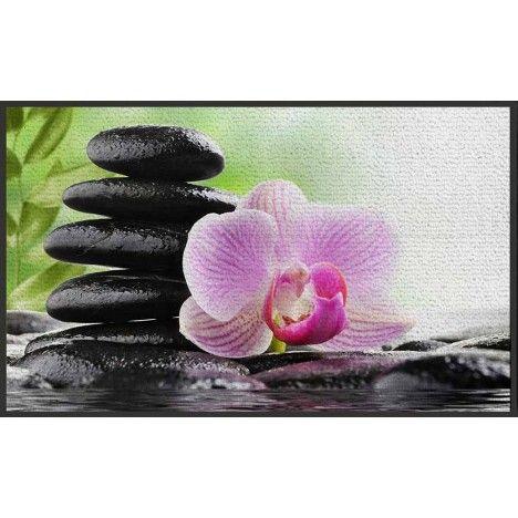 Tapis Zen antidérapant 50 x 80 cm Serenity Lotus -