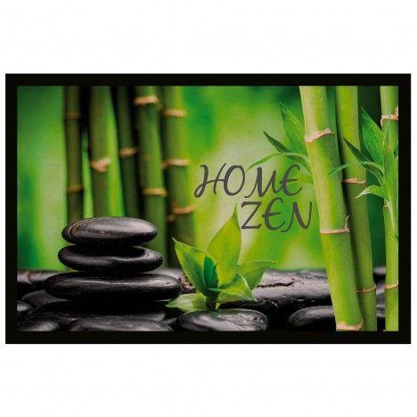 Tapis d'entrée antidérapant 40 x 60 cm Home zen -