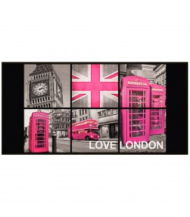 Tapis London antidérapant 57 x 115 cm girl