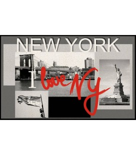 Tapis New York antidérapant 50x80 cm -