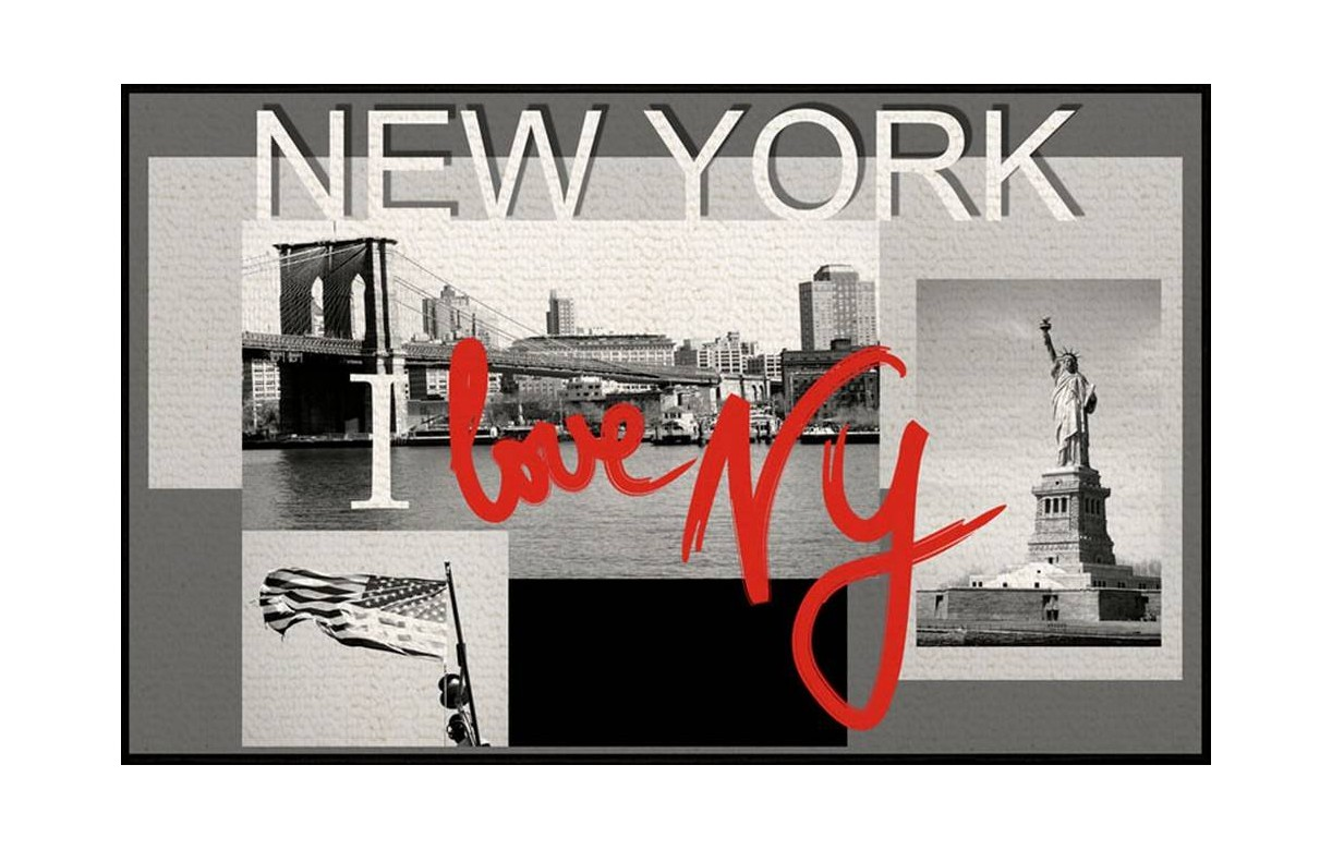 Tapis New York Antiderapant 50x80 Cm Decome Store