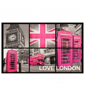 Tapis London antidérapant 50 x 80 cm girl -