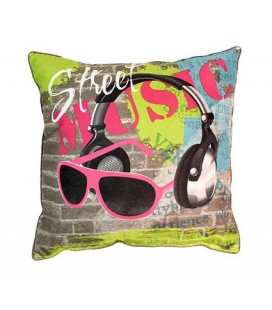Coussin 40 x 40 cm Street music