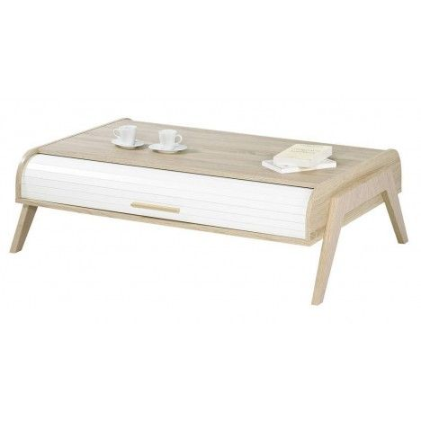 table basse chene clair avec rideaux de rangement blanc vintage. Black Bedroom Furniture Sets. Home Design Ideas
