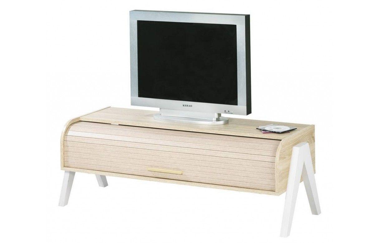 Meuble Tv A Rideau - Meuble Tv Bois Clair Avec Rangement Rideau D Roulant Vintage[mjhdah]https://img1.dlmcdn.fr/a/3559/L001MSA3559004-0403-2250-p01-meuble-vintage-bois-pieds-rideau-coulissant-blanc-happy.jpg