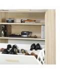 Meuble à chaussures orange jaune ou blanc et bois clair Vintagy -