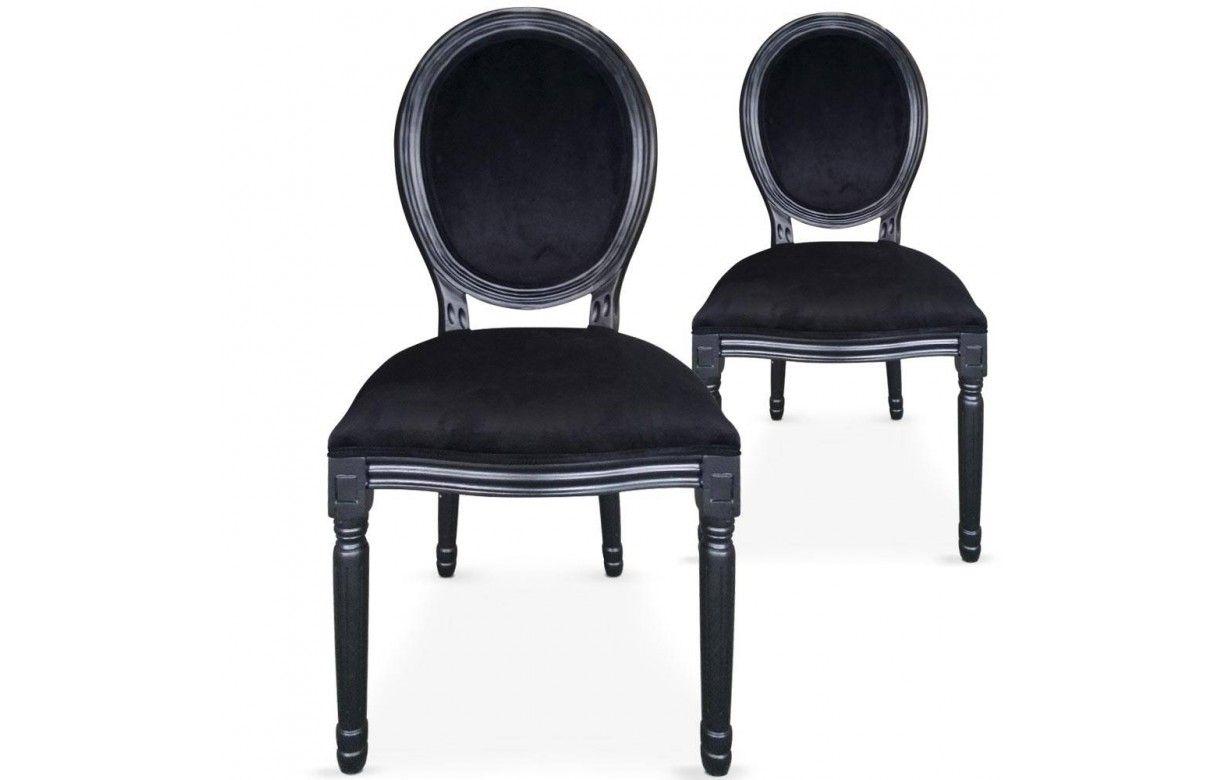 Lot de 2 chaises m daillon louis xvi for Chaise salle a manger louis xvi