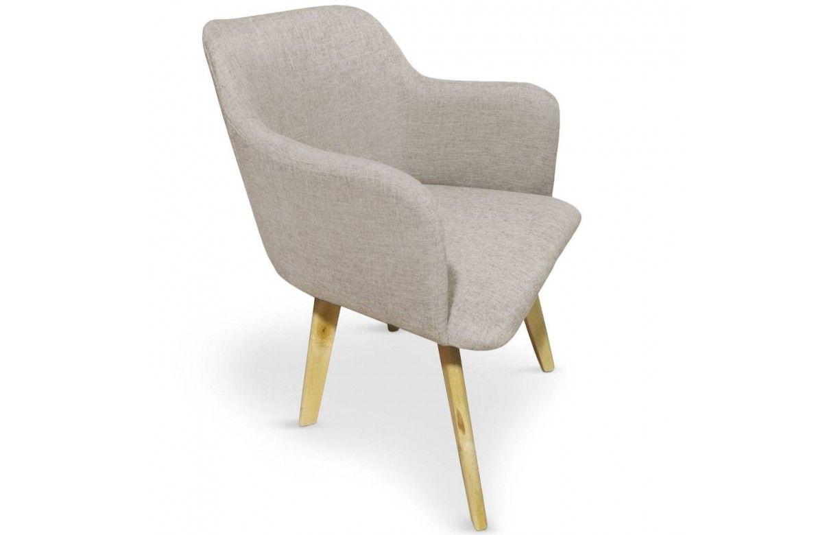 Chaise design style scandinave avec pieds en bois clair for Chaise avec pied en bois