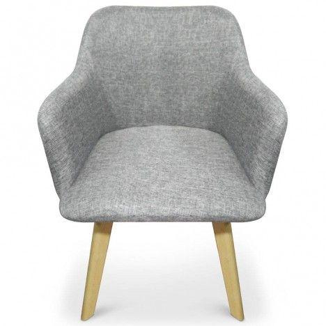 Chaise design style scandinave avec pieds en bois clair Candy -