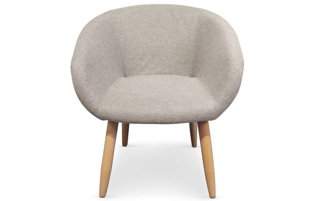 fauteuil design style scandinave avec pieds en bois. Black Bedroom Furniture Sets. Home Design Ideas