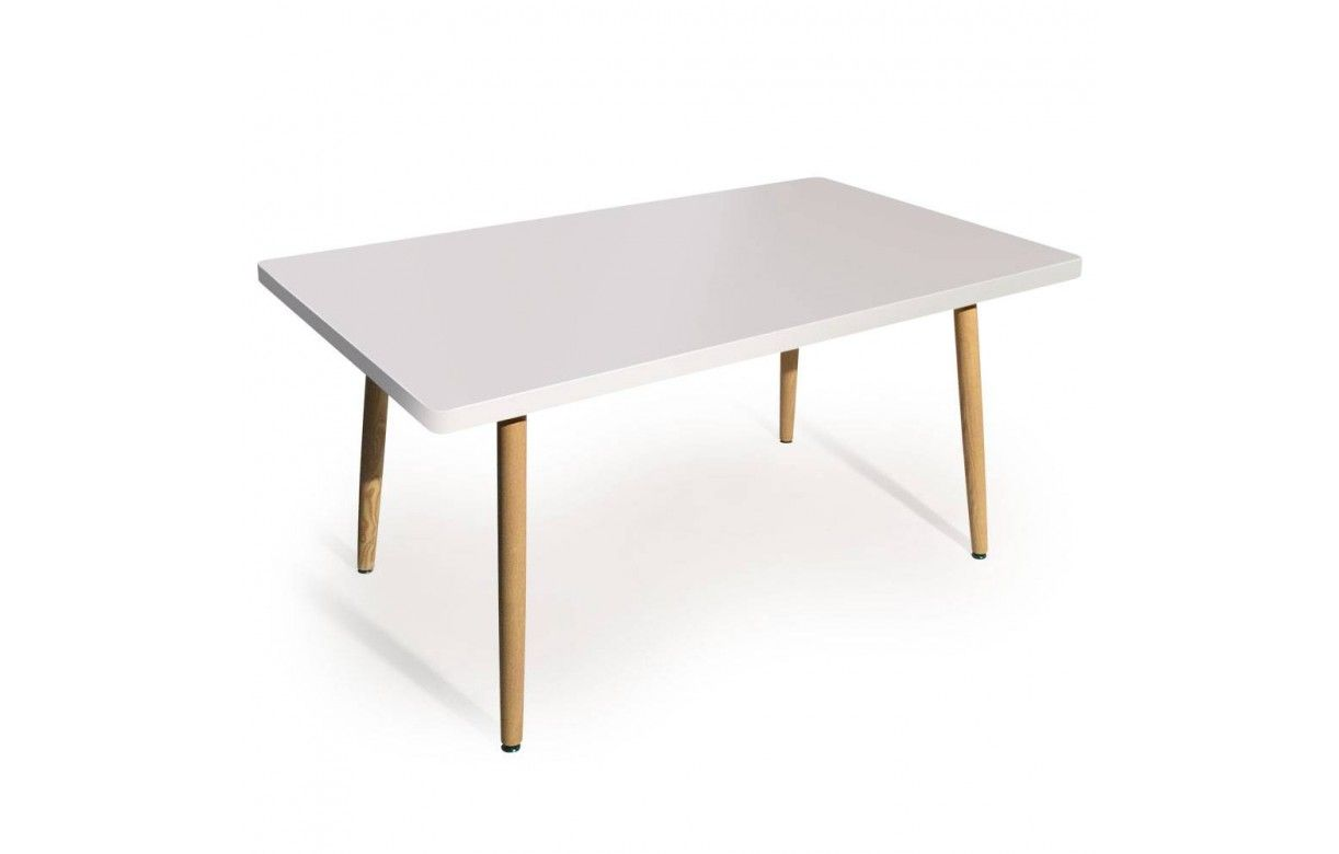 Table rectangulaire pas cher design scandinave for Table scandinave blanche